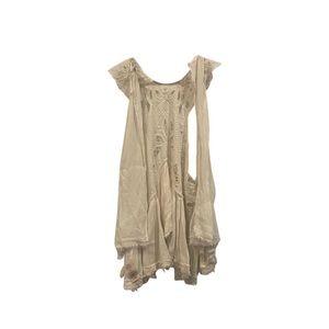 Free People Lace Ivory Vest